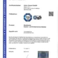 ANKE - Certification etablis a caisson suspendus lourds