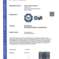 Certification Etablis Mobiles - tables - ANKE