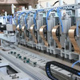 Encollage des tasseaux - Unité automatisée, max. 5.000x1.300mm