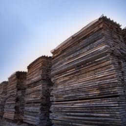 Stockage du bois - En sortie de scierie