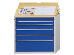 SLIDER2 Armoire à tiroirs avec plateau écriture