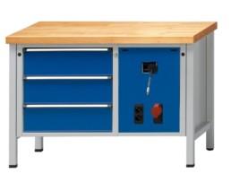 Etabli stationnaire à coffre série VM - Etabli monobloc à tiroirs
