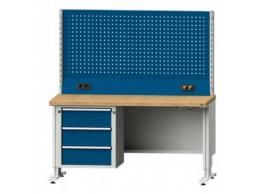 Table de travail ergonomique série LIFT à panneau perforé
