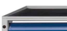 RAD Tablette tôle à rebords avec revêtement anti-dérapant